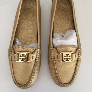 SOLD! On another site TB gold driving loafers