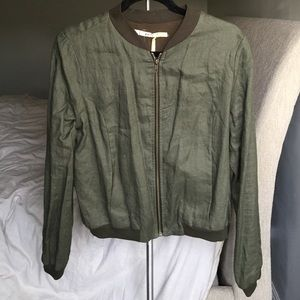 Gibson Army Green Bomber Jacket - Small