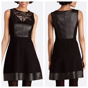 MOVING SALE❗️Back Laser Leather Cut-Out Dress