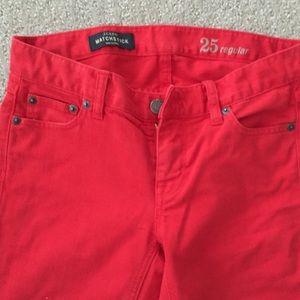 Jcrew red jeans