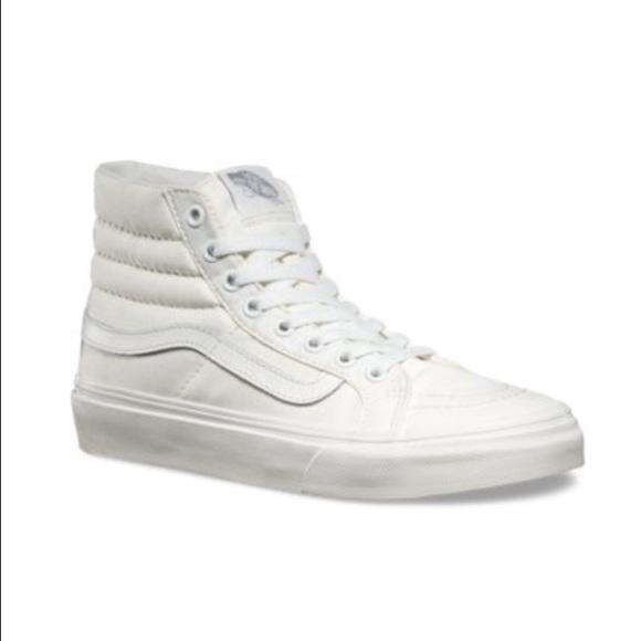 7746eadc3b8e Vans Sk8-Hi Slim (Canvas True White)