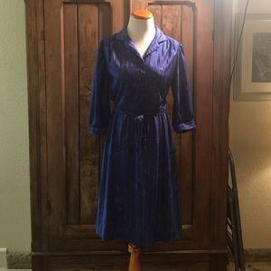 Belted Vintage 70's Dress