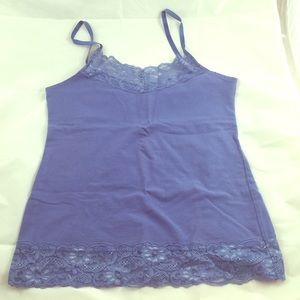 Romy Tops - ⬇️ Blue Lace Cami