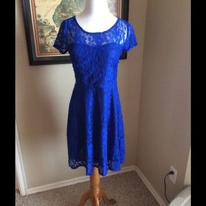 Boutique Dresses & Skirts - 🎉🎉NWT Royal Blue Lace Dress❤️