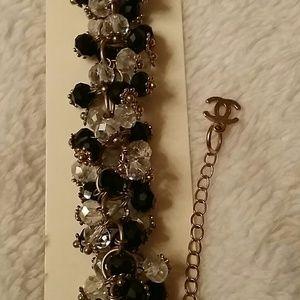 Jewelry - BLACK & SILVER BEADED BRACELET
