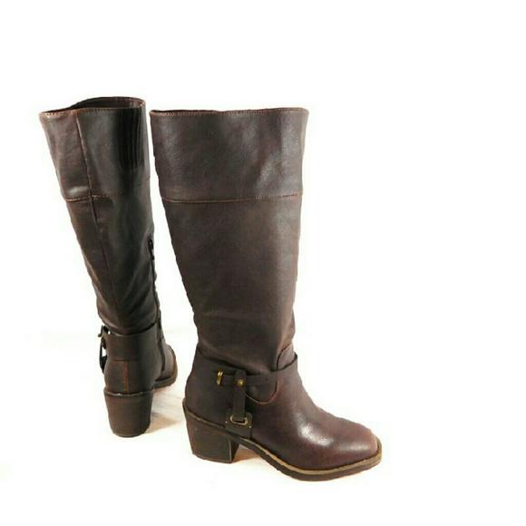 ced0a5ea0898 XOXO Marissa WIDE CALF Brown Boots