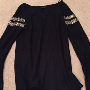 Pacsun black sweater with gold sequins