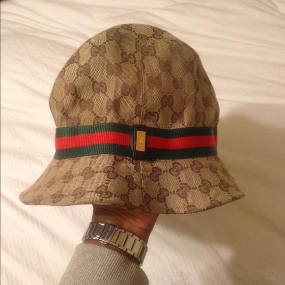 8a86a649 Vintage Gucci Fedora/Bucket Vintage Christian Dior Monogram Bucket Hat ...
