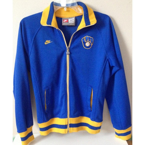 Milwaukee brewers women's track jacket