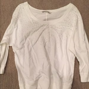 Old Navy white sweatshirt