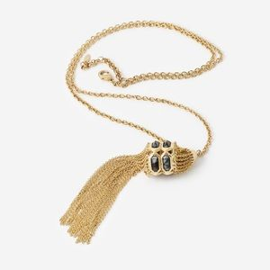 Isharya gold tassel necklace