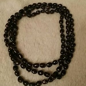 Jewelry - BLACK PEARL FAUX NECKLACE