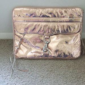 Rebecca Minkoff Gold Metallic Laptop Case