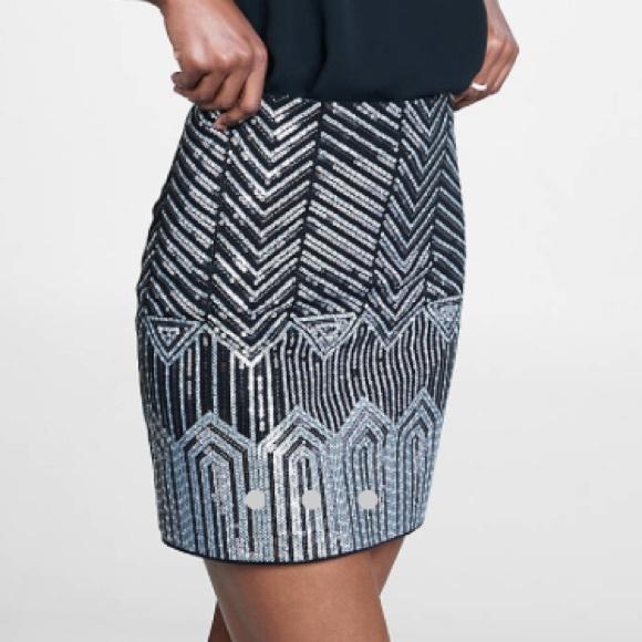 Express Dresses & Skirts - NWT Art Deco Sequin Mini Skirt