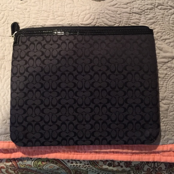 Coach Accessories - Authentic coach tablet case with zipper never used