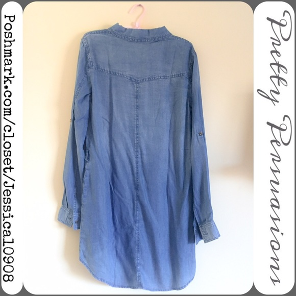 29 Off Boutique Dresses Skirts Nwt Chambray Button