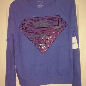 Dazzled Superman Pullover Sweater