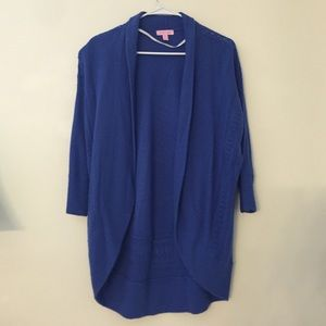 Lily Pulitzer blue open shrug (great condition)