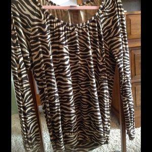 Michael Kors brown zebra print top