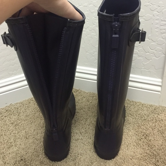 38% off Hunter Shoes - Hunter back zip rain boot from H's closet ...