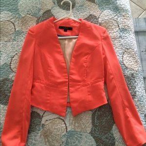 Orange Silk Blazer