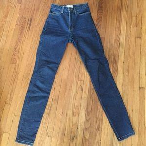 American apparel high waist jeans 26
