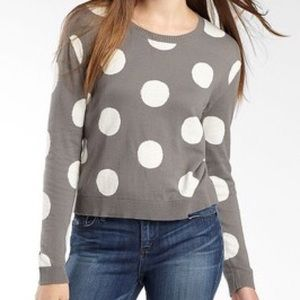 I Heart Ronson Polka Dot Cotton Sweater