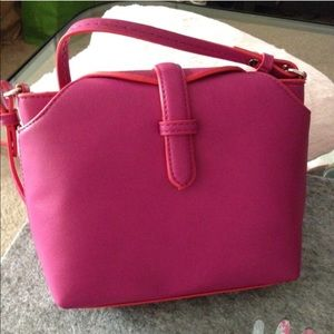 Zara Handbags - Zara Small Magenta Crossbody Handbag