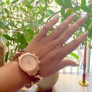 T&J Designs Accessories - Classic Rose Gold & Tortoise Link Watch