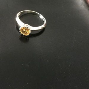 Jewelry - Citrine stone in simple SS setting, 7