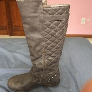 Tall gray boots from JustFab