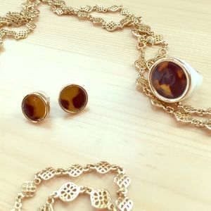 Tortoise Ring and Earrings