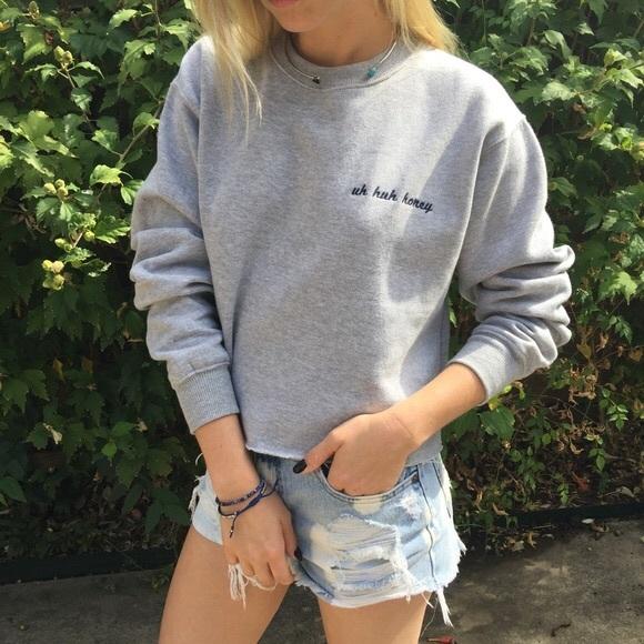 Brandy Melville Sweaters New Uh Huh Honey Sweatshirt Poshmark