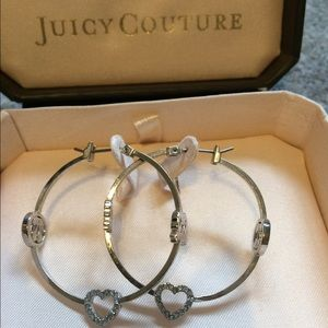 Silver Juicy Couture Hoops