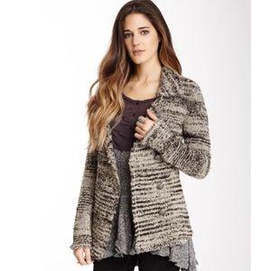 Free People zebra knit sweater blazer- Size M $168