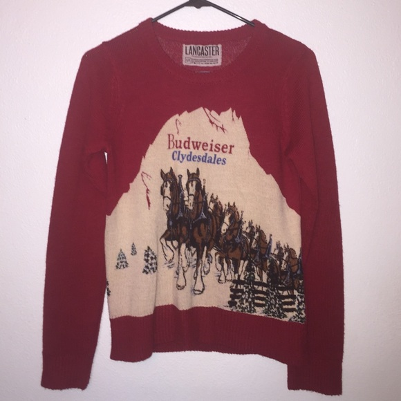 50% off Lancaster Sweaters - Red Budweiser sweater from Sami's ...
