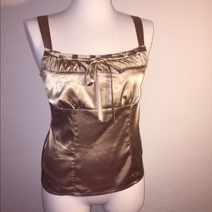 Ally B Tops - Ally B Gold Satin Top L