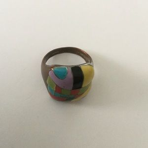 Enameled copper ring, 7