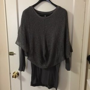 Gray trendy dress