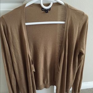 Express tan cardigan