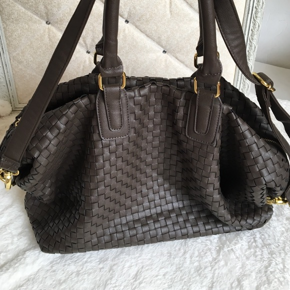 75 Off Deux Lux Handbags Deux Lux Large Weave Tote From
