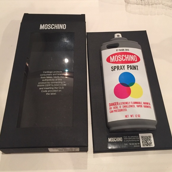 650f90f1fba AUTHENTIC Moschino Spray Paint case - iPhone 6/6s.  M_56a2b23199086a75e0009770