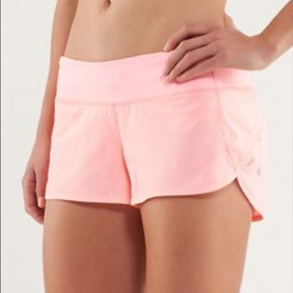 Lululemon Athletica Shorts Lululemon Speed Light Pink Coral Poshmark