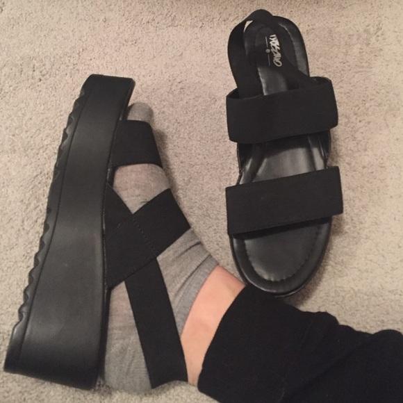 Black Platform Sandals | Poshmark