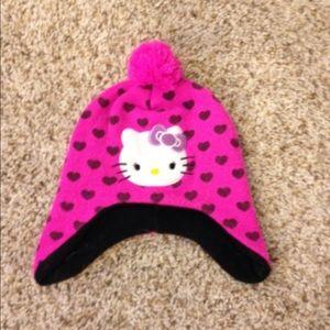 Pink Hello Kitty beanie.