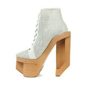 {jeffrey campbell} perforated alia boot NWOT