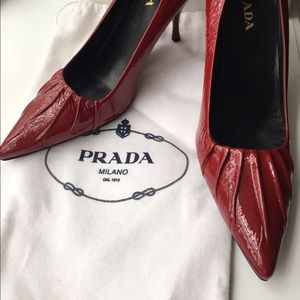 Red Patent Leather Prada Pumps 38.5 - 8 1/2
