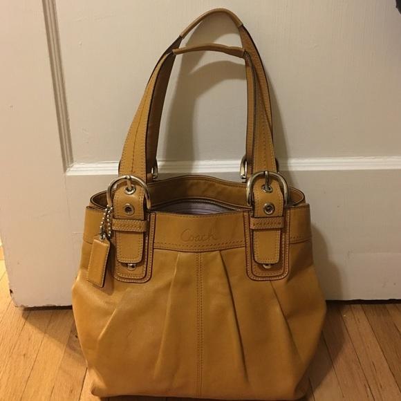 6b18e228e2d2 Coach Handbags - Mustard Yellow Coach Bag