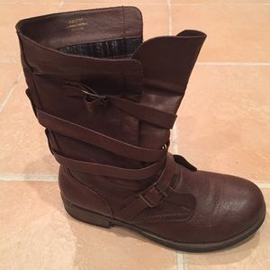 Crown Vintage Shoes - Brown slouchy boots