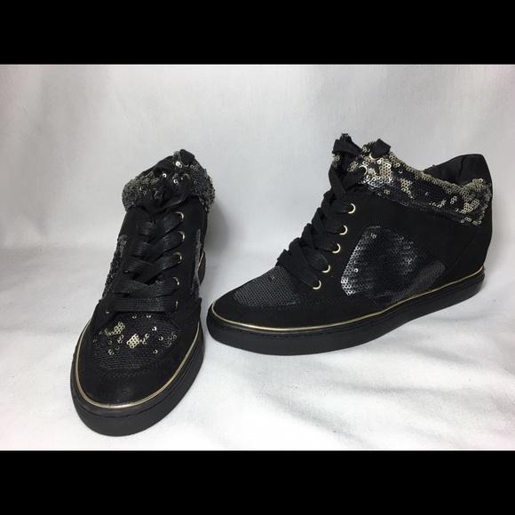 Jennifer Lopez Shoes - Jennifer Lopez sequin hidden wedge sneakers 678fff00c